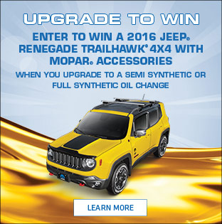 Upgrade to Win Jeep Renegade Contest